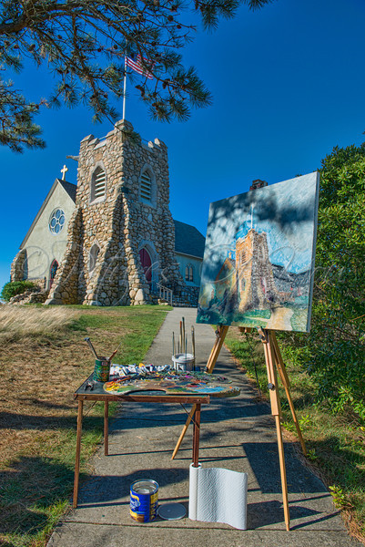 St. Andrews-2<br /> <br /> St. Andrews By The Sea Episcopal Church, Hyannis Port, Hyannis<br /> Painting by:  Jim Plunkett<br /> Jimplunkettimages@yahoo.com