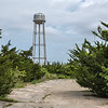 Old water tower on abandoned military installation at Cape May Point