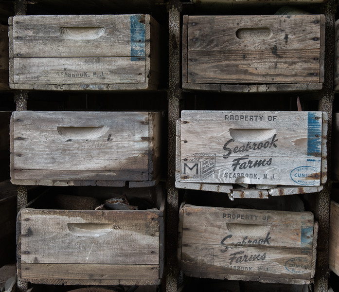 Old boxes on the Rae Family Farm
