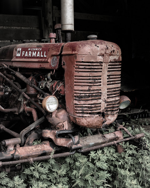 Old tractor on the Rae Family Farm