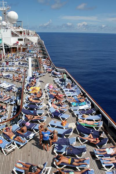 On board the Carnival Triumph