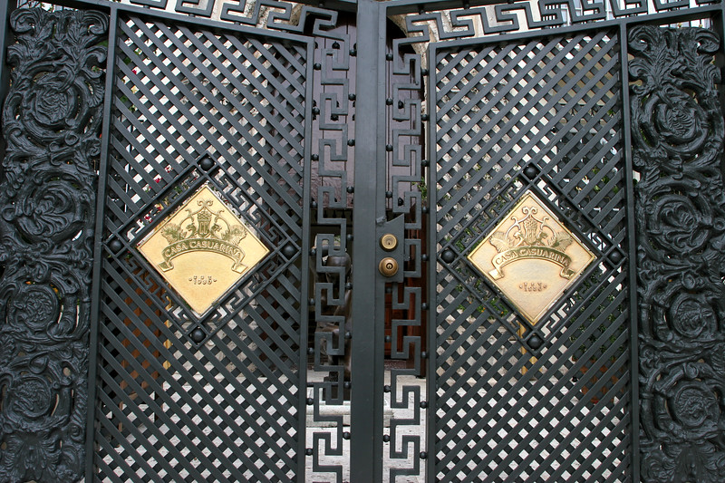 Doorway to Casa Casuarina, Gianni Versace's mansion in Miami's South Beach .