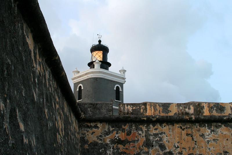 Lighthouse on El Morro, San Juan, Puerto Rico.