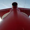 Whale tale funnel of the Carnival Triumph.