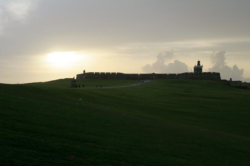 Castillo de San Felipe del Morro (also called El Morro), an old fort built in 1587 to protect the city of San Juan.