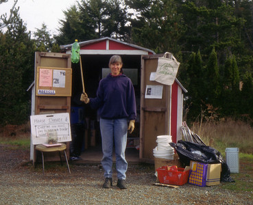 In 1992, volunteers began a small recylcing center in the parking lot near the bus stop in Manzanita.