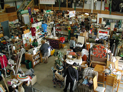 The resale store offers thousands of items that otherwise might have gone to a landfill.