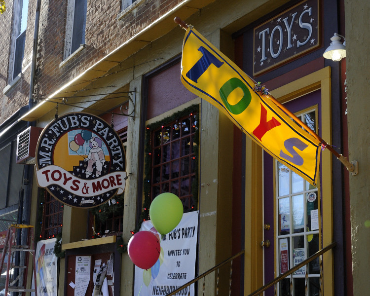 Toy store in Yellow Springs, OH.