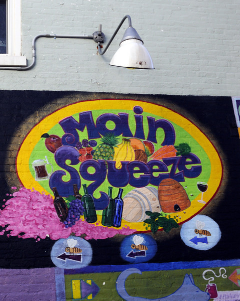 Building mural in Yellow Springs, OH.