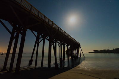 Just Drift Away - Moonlight on San Simeon Pier