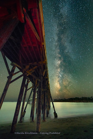Starry Night at San Simeon Pier