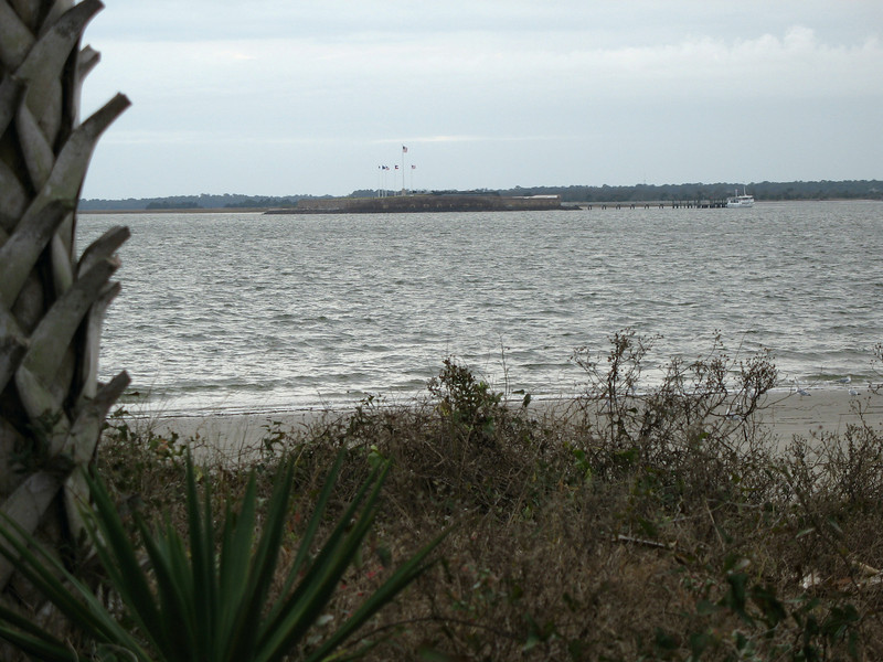<b>Fort Sumpter</b> - We drove around to the beach in front of Ft. Moultrie to get this closer view of Ft. Sumter.
