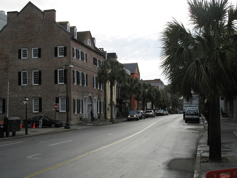 <b>Historic Downtown Charleston</b> - Historic Broad Street. This is a typical streetscape for the historic section of the downtown.