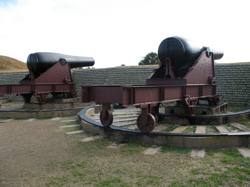 <b>Fort Moultrie - 1870's Cannon</b> - These cannon defended the fort from 1873-1898.