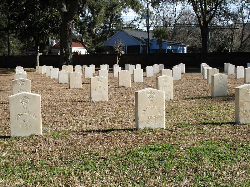 <b>Beaufort National Cemetery</b> - Created in 1863, during the Union occupation of Beafort, the cemetery is the final resting place for over 18000 veterans and their families.