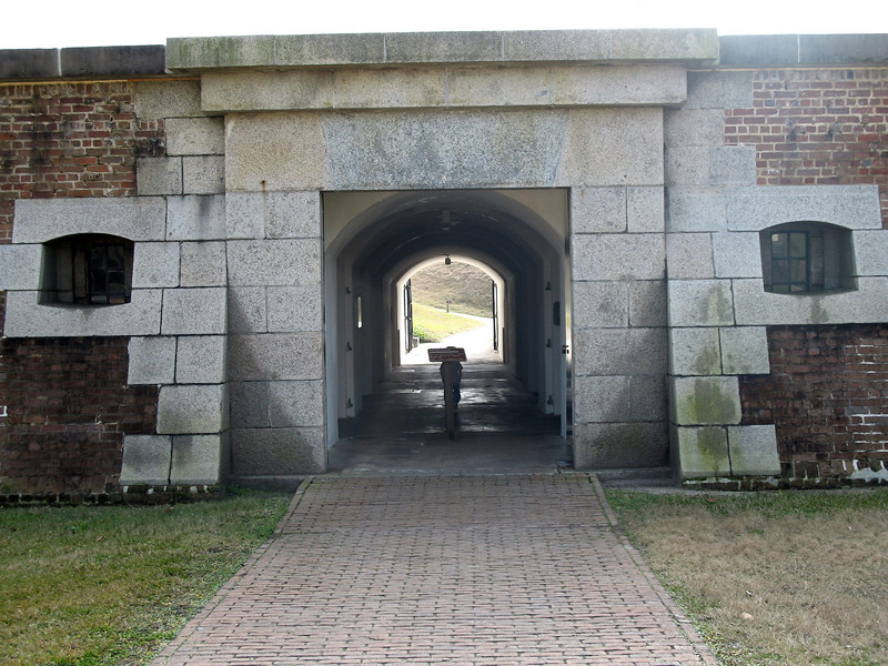 <b>Fort Moultrie - Sally Port Entrance</b> - The main entrance to the fort from the visitors center.