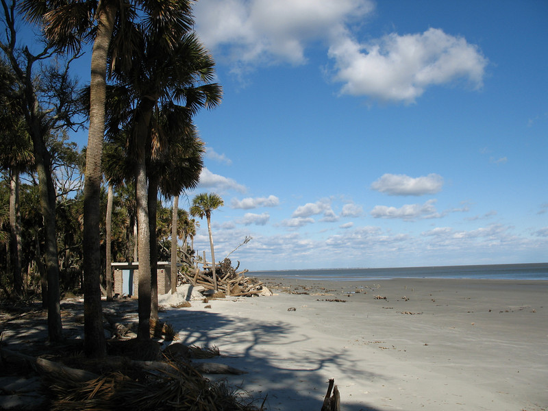 <b>Hunting Island State Park</b> - Located about 20 minutes from Beaufort, this is a place I want to go spend some more time at. The park boasts a huge palm-lined beach(seen here), campground, a nature center, and a beautiful lighthouse. I wasn't suprised when I later read it was one of the most popular parks in all South Carolina.