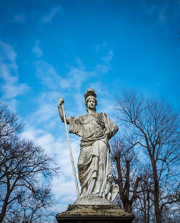 Statue in Charlottenburg Palace, Berlin