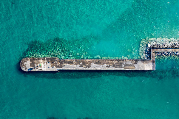 Charlevoix Breakwall and Blue Water