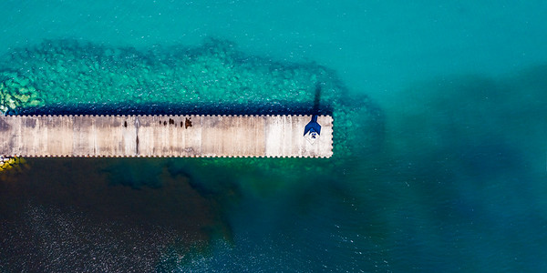 Petoskey Breakwall Aerial