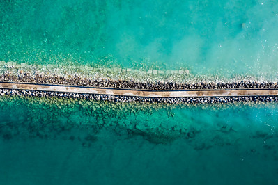 Charlevoix Aerial of Breakwall