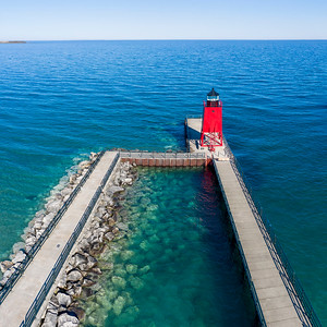 Charlevoix Lighthouse Aerial