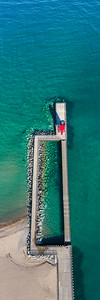 Charlevoix Pier from The Sky