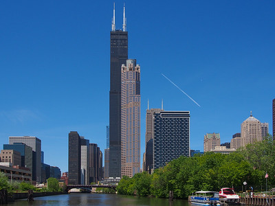 Sears Tower (L), 311 South Wacker Drive (R)