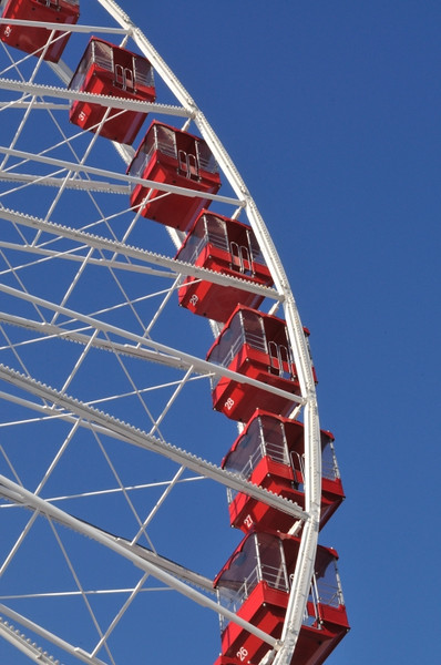 The Ferris wheel at the Navy Pier.