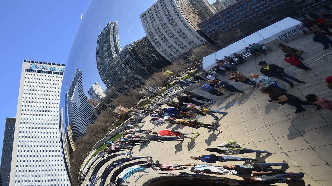 Chicago April 2015 - The Bean<br /> Millennium Park, Chicago Illinois USA