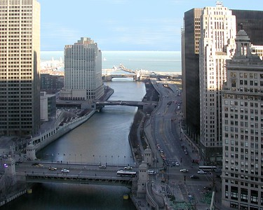 Chicago River and Lake Michigan
