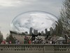 The Bean, officially called Cloud Gate. Chicago's Millennium Park