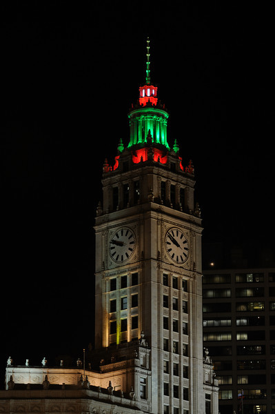 The Wrigley Building at Christmas