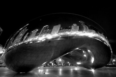 Cloud Gate on Easter Sunday, April 12, 2009