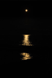 Supermoon Reflecting on Lake Michigan