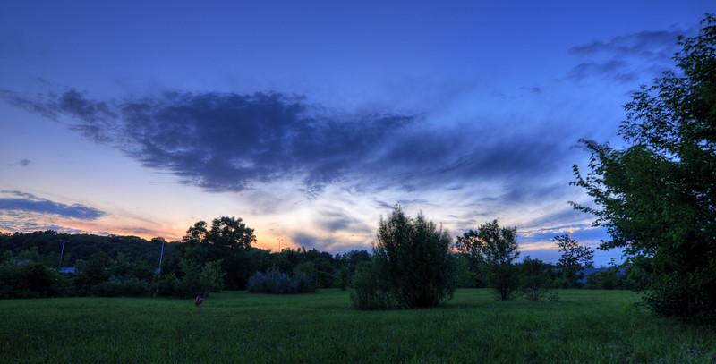 Sunset over Lisle