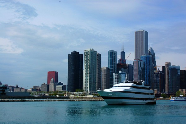 Boat on Navy Pier in Chicago