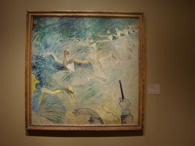 Henri de Toulouse-Lautrec.  Ballet Dancers, 1885/86. Oil on plaster, transferred to canvas.