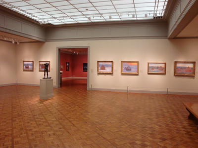 A room dedicated to Claude Monet. He also has work hanging in other rooms.