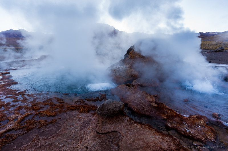 Geysers in northern Chile
