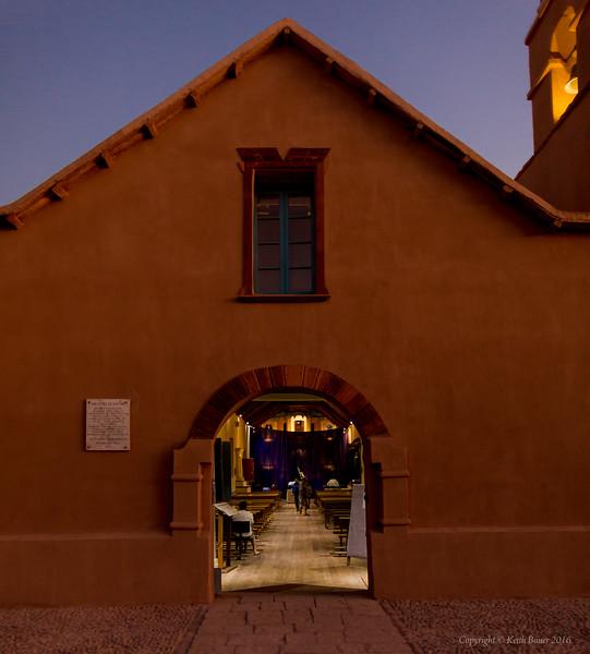 The church in San Pedro de Atacama