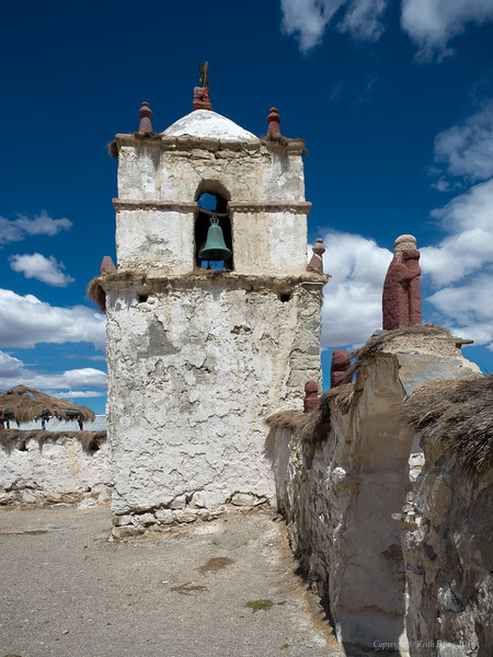 Belltower of the church in Parinacota