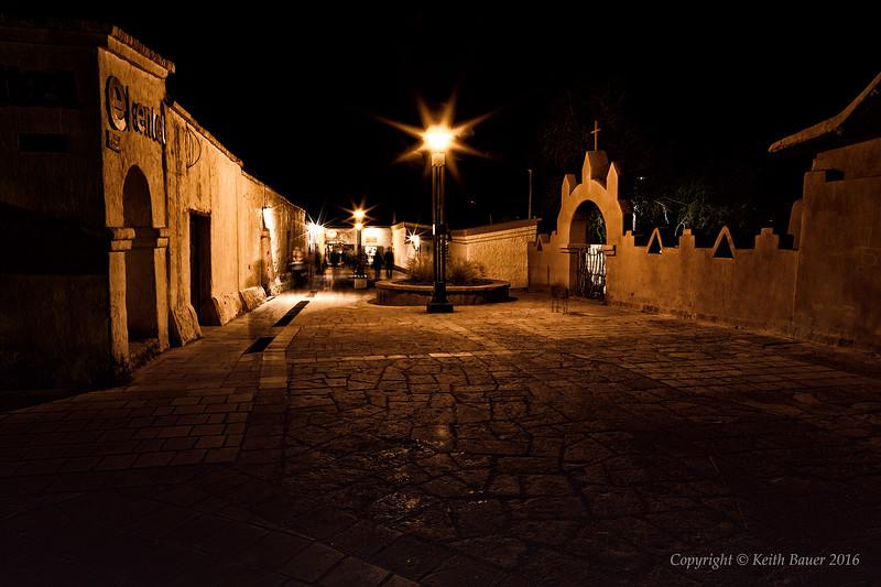 Charming town of San Pedro at Night