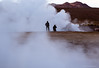 Friends photographing the geysers in the Altiplano