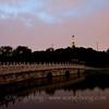 White Pagoda in Beihai Park after sunset in summer 2012. 2012年夏日日落后北海公园的白塔。