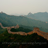 Jingshanling section of the Great Wall in a cloudy summer morning. 金山岭长城在一个多云的夏日清晨。