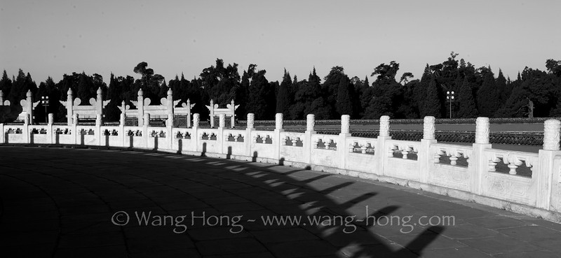 At the Temple of Heaven. 天坛寰丘台
