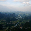 Karst landscape in Guangxi from hot air balloon.  I want to ride the balloon again.