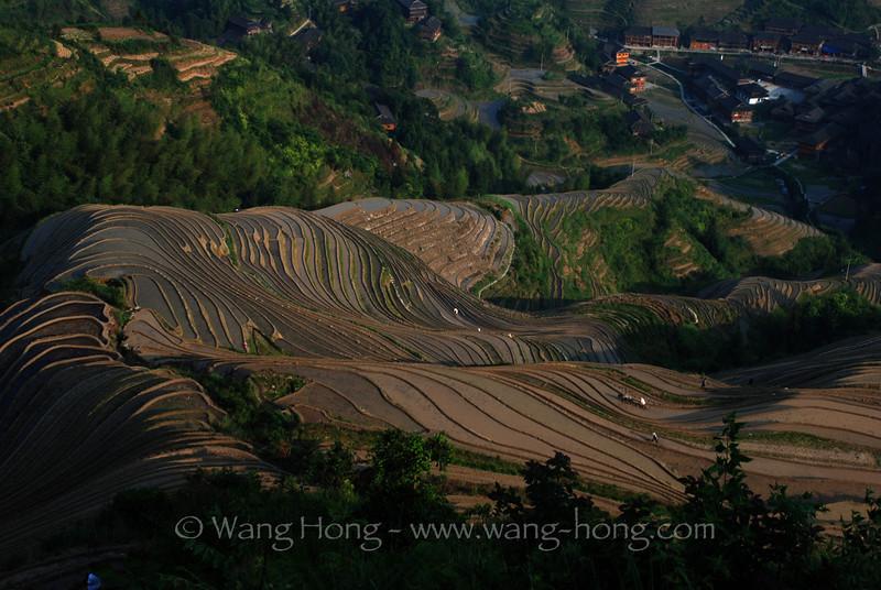 Late afternoon at Dazhai Village, Guangxi
