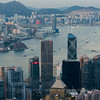 Victoria Harbour from the Peak in the morning, August 2011
